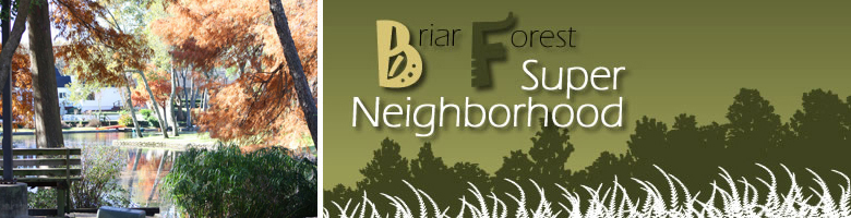 Welcome to Briar Forest Super Neighborhood!